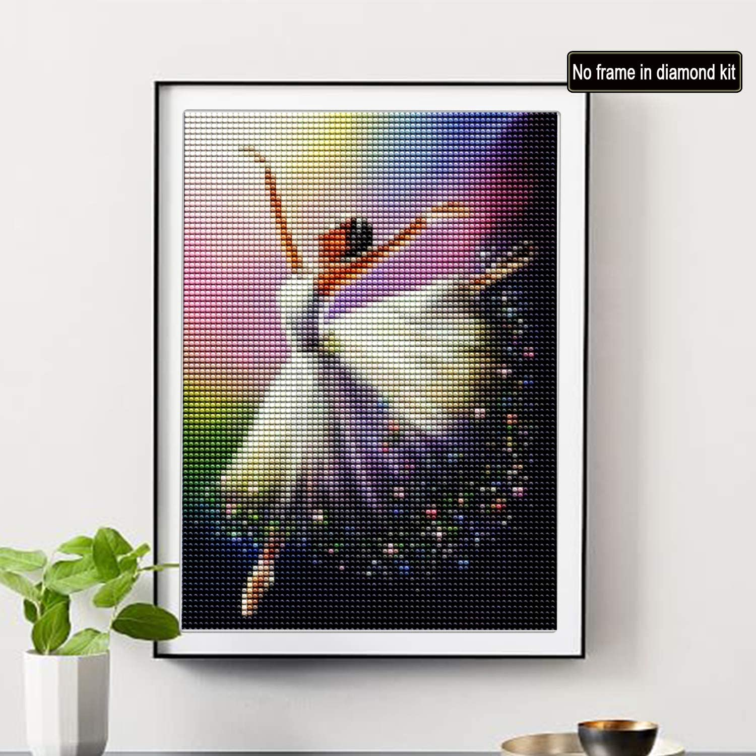 SKRYUIE DIY Rhinestone Pasted Paint with Diamond Set Arts Craft Decorations 5D Diamond Painting Dancer Full Drill by Number Kits 12x16inch