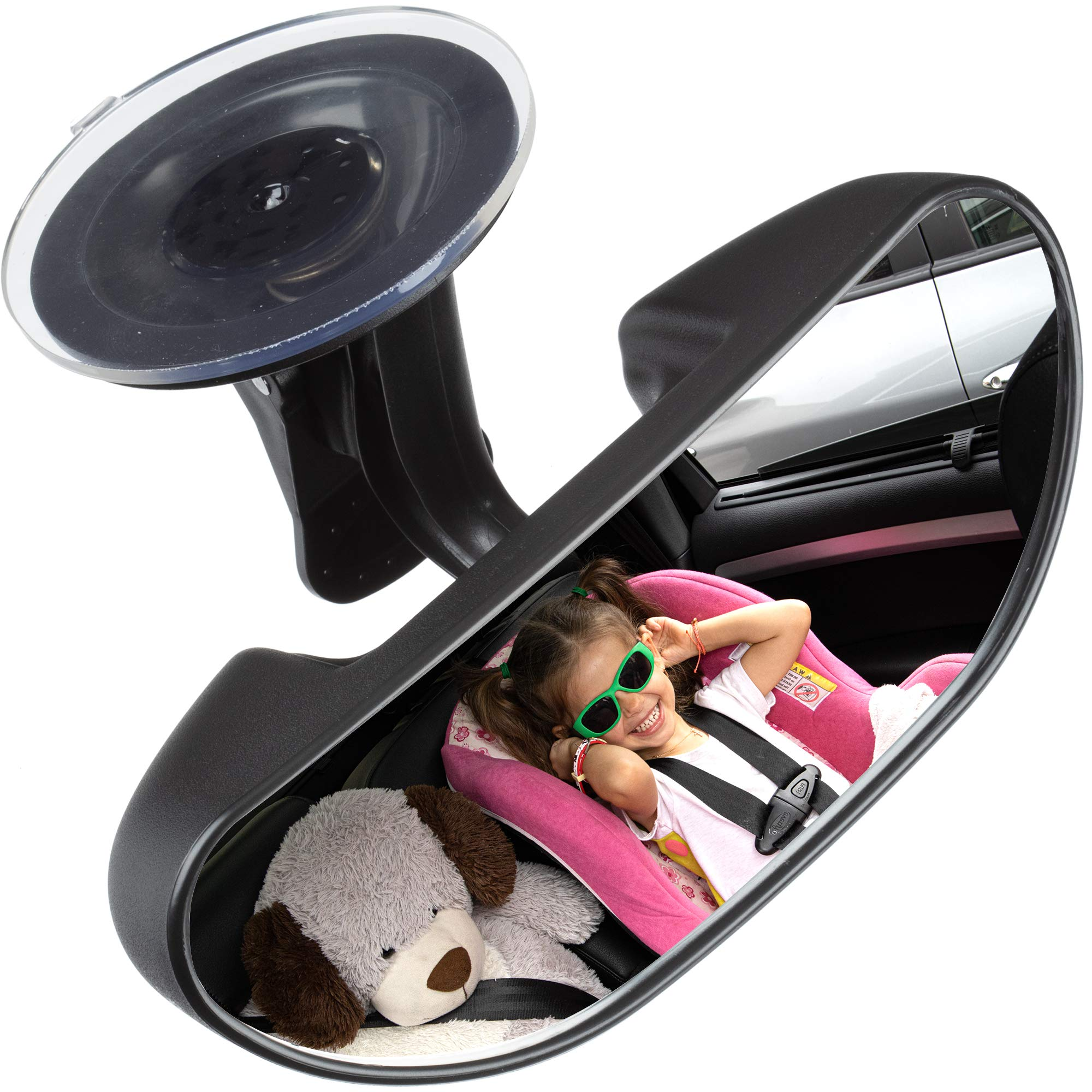 Baby Car Backseat Mirror, Rear View Facing Back Seat Mirror Child Safety Rearview Adjustable Rearview Wide Angle Convex Mirror for Infant Toddler Child Children Backseat passengers-Concept FiFi by Concept FiFi
