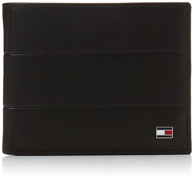 Tommy Hilfiger - Corporate Mini Cc Wallet, Carteras Hombre, Negro (Black),