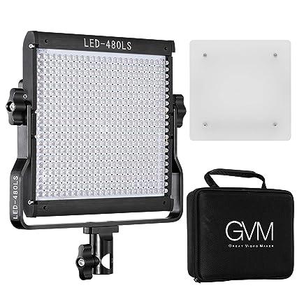 b1397b5b980 Amazon.com   GVM Bi-Color LED Video Light Dimmable Panel Temperature  Upgrade 2300K-6800K Suitable for Studio YouTube Shooting   Camera   Photo