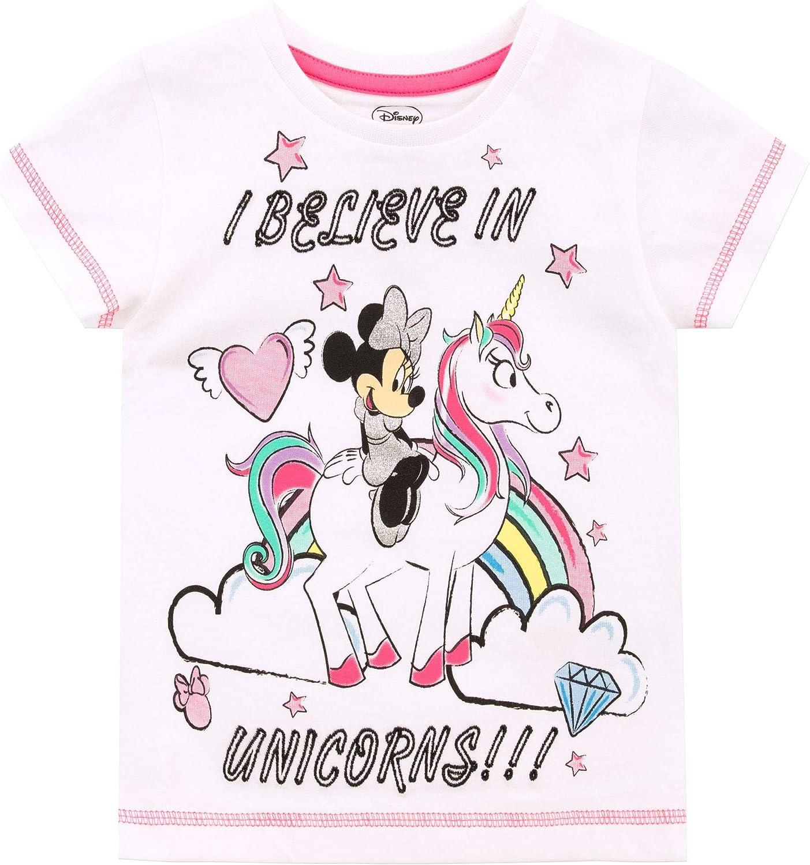 Disney Maglietta Maniche Corta per Ragazze Minnie Mouse Unicorno