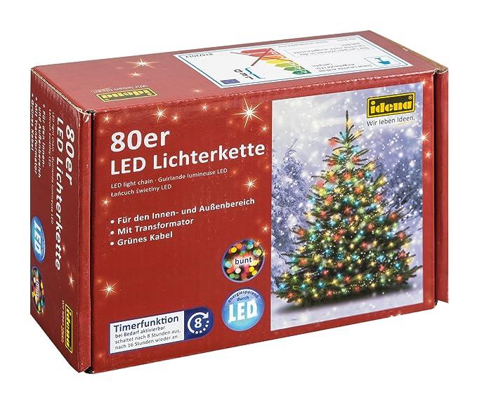 Idena LED Lichterkette 80er, Ca. 16 M, Für Innen Und Außen, Buntes Licht:  Amazon.de: Beleuchtung