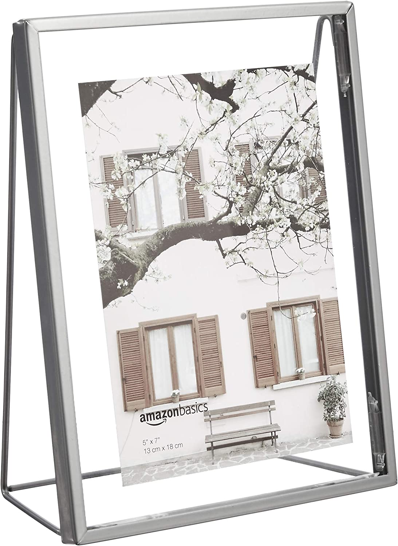 13 x 18 cm Basics Cadre photo flottant de forme triangulaire Nickel