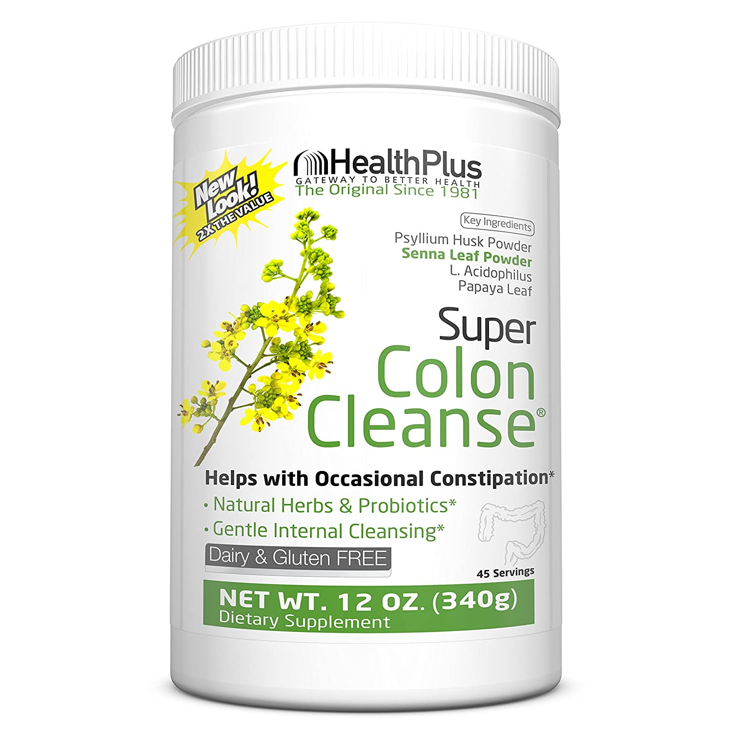 Health Plus Super Colon Cleanse, 12 Ounce (Pack of 1)