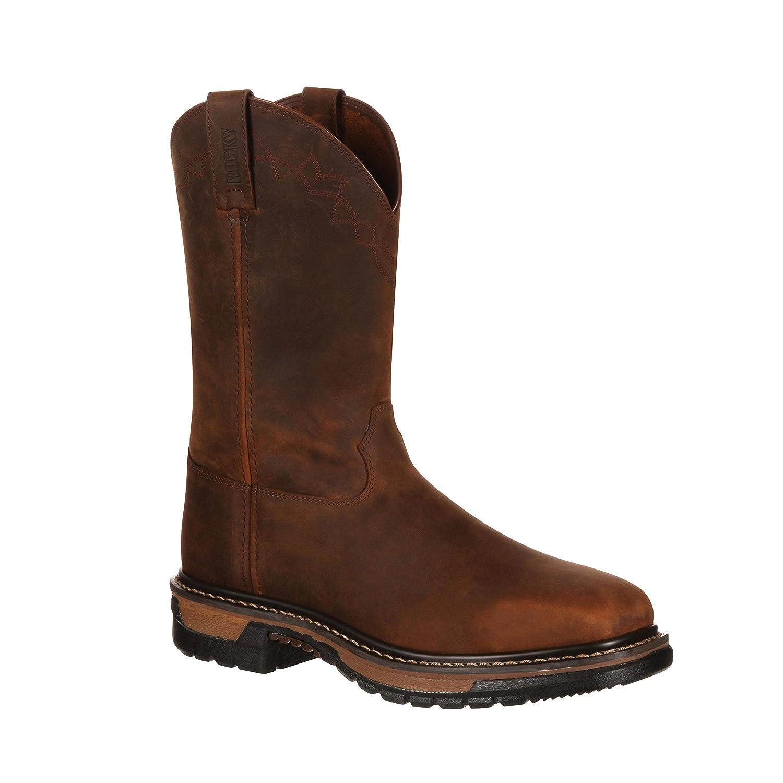 0610a4ce905 Rocky Men's Original Ride Steel Toe Western Work Boot