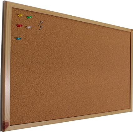 Chely Intermarket Tablero de corcho pared 50x70 cm con marco de madera (suro pared). Pizarra ideal como panel o tablon calendario,mapa,fotos y anuncios.(552-50x70-0,65): Amazon.es: Oficina y papelería