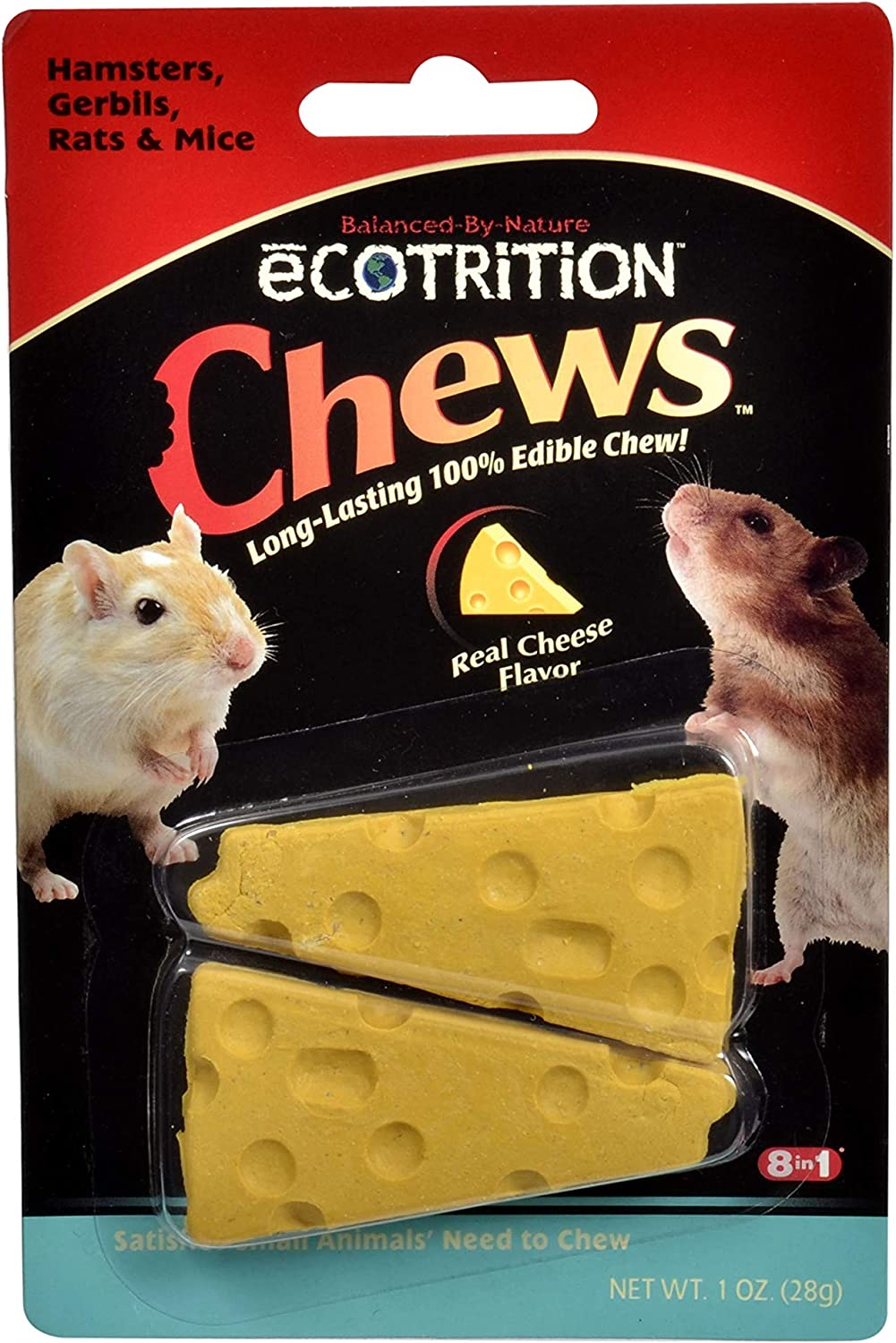 eCOTRITION Hamster, Gerbil, Rat & Mouse Cheese Chews