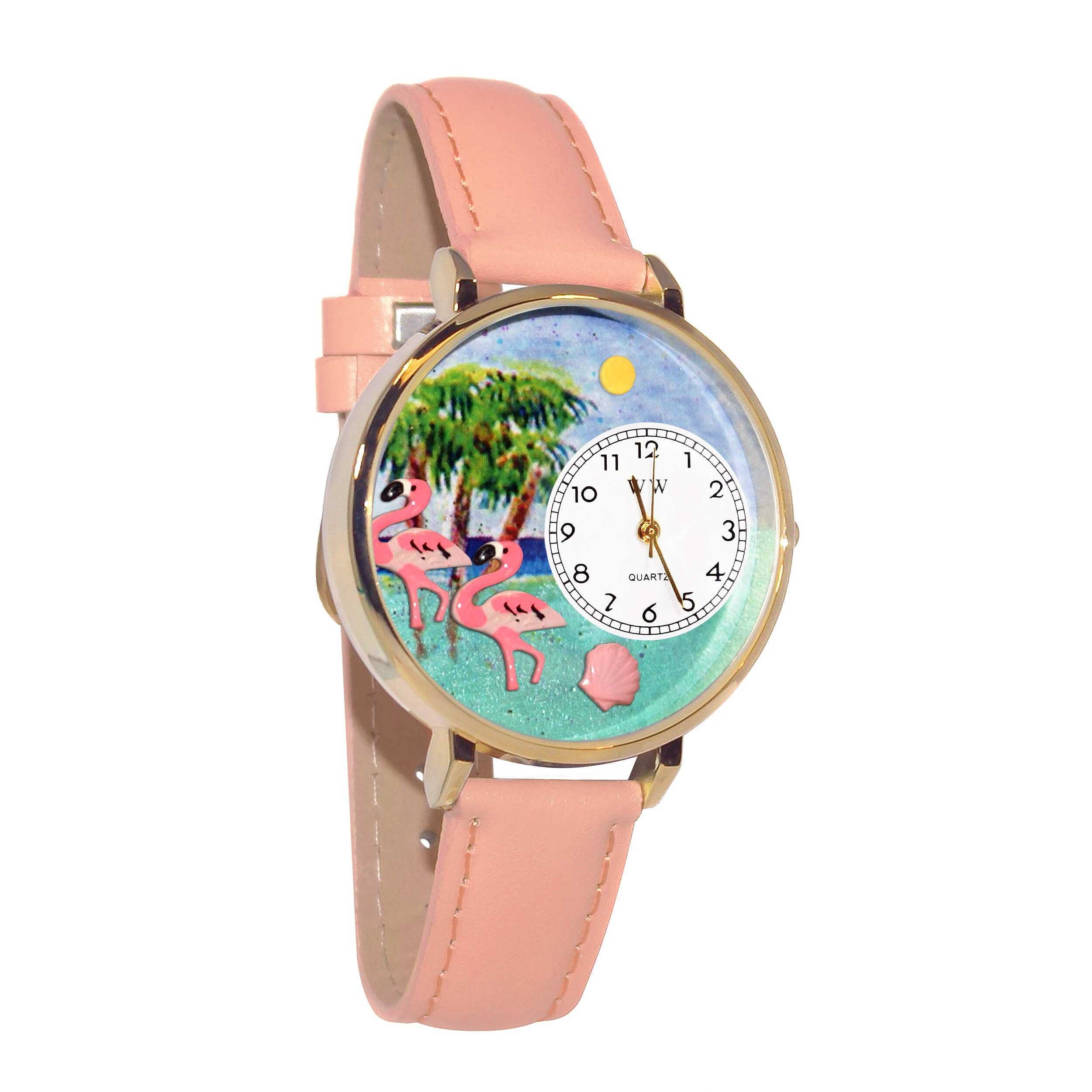 Whimsical Watches Women's G0150001 Flamingo Pink Leather Watch by Whimsical Watches
