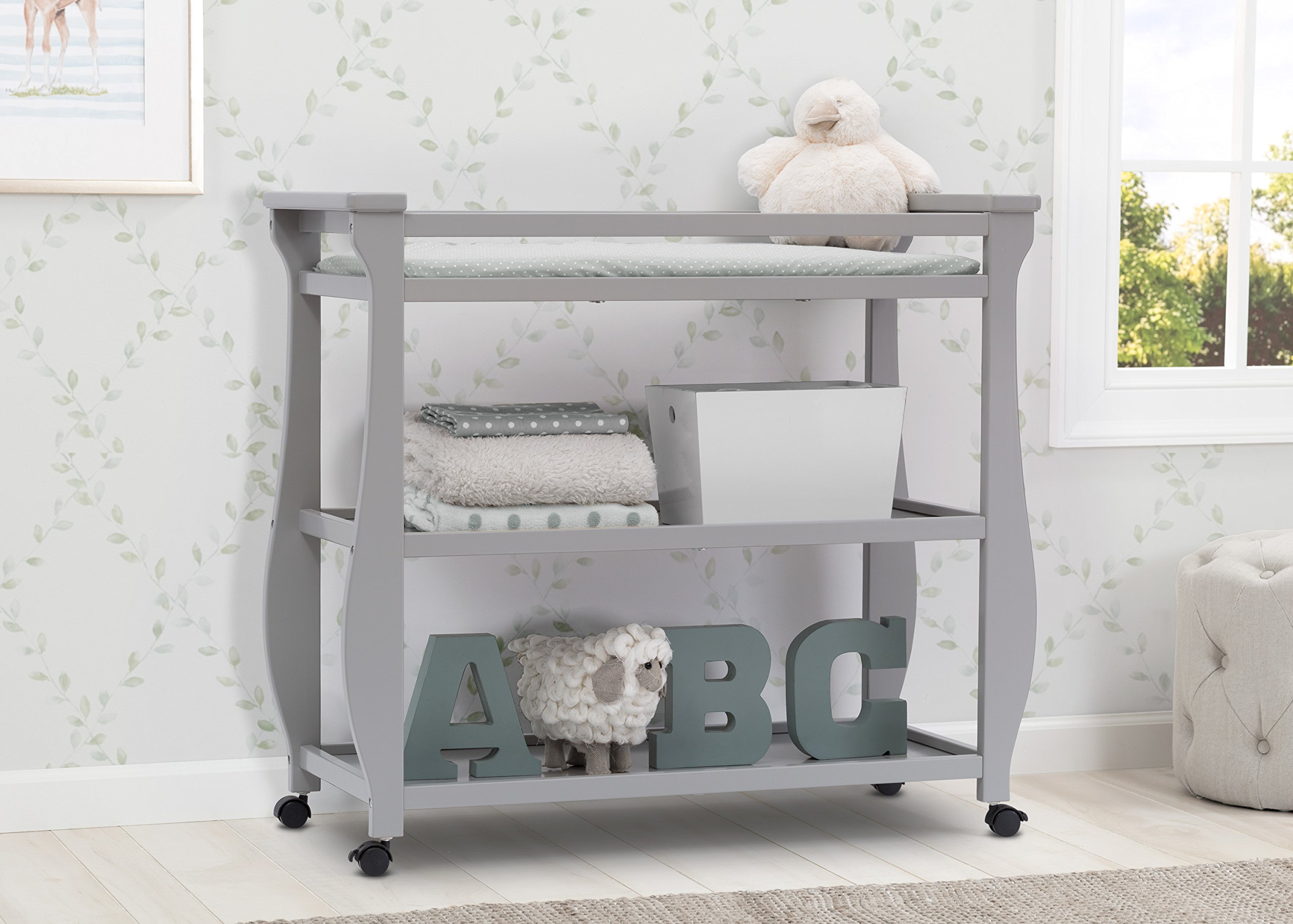 Delta Children Lancaster Changing Table, Grey by Delta Children (Image #2)