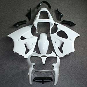 Wotefusi Brand New Motorcycle ABS Plastic Painted Compression Mold Bodywork Fairing Kit Set For Kawasaki Ninja ZX9R ZX-9R 1998 1999