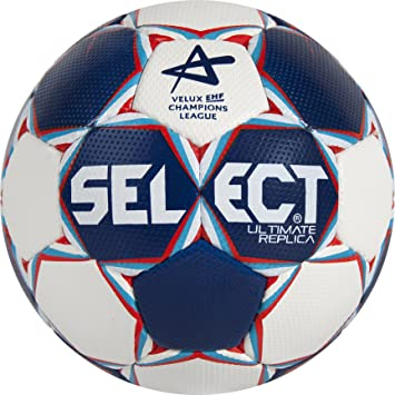 SELECT Balón de Balonmano Ultimate Replica CL, Blanco/Azul/Rojo, 0 ...