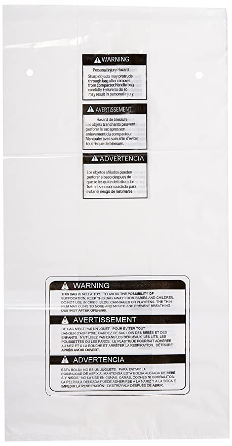 GE APPLIANCE PARTS WC60X10005 Compactor Bags - Box of 15 In  Heavy Duty  Square Compactor Bags For GE Trash Compactors