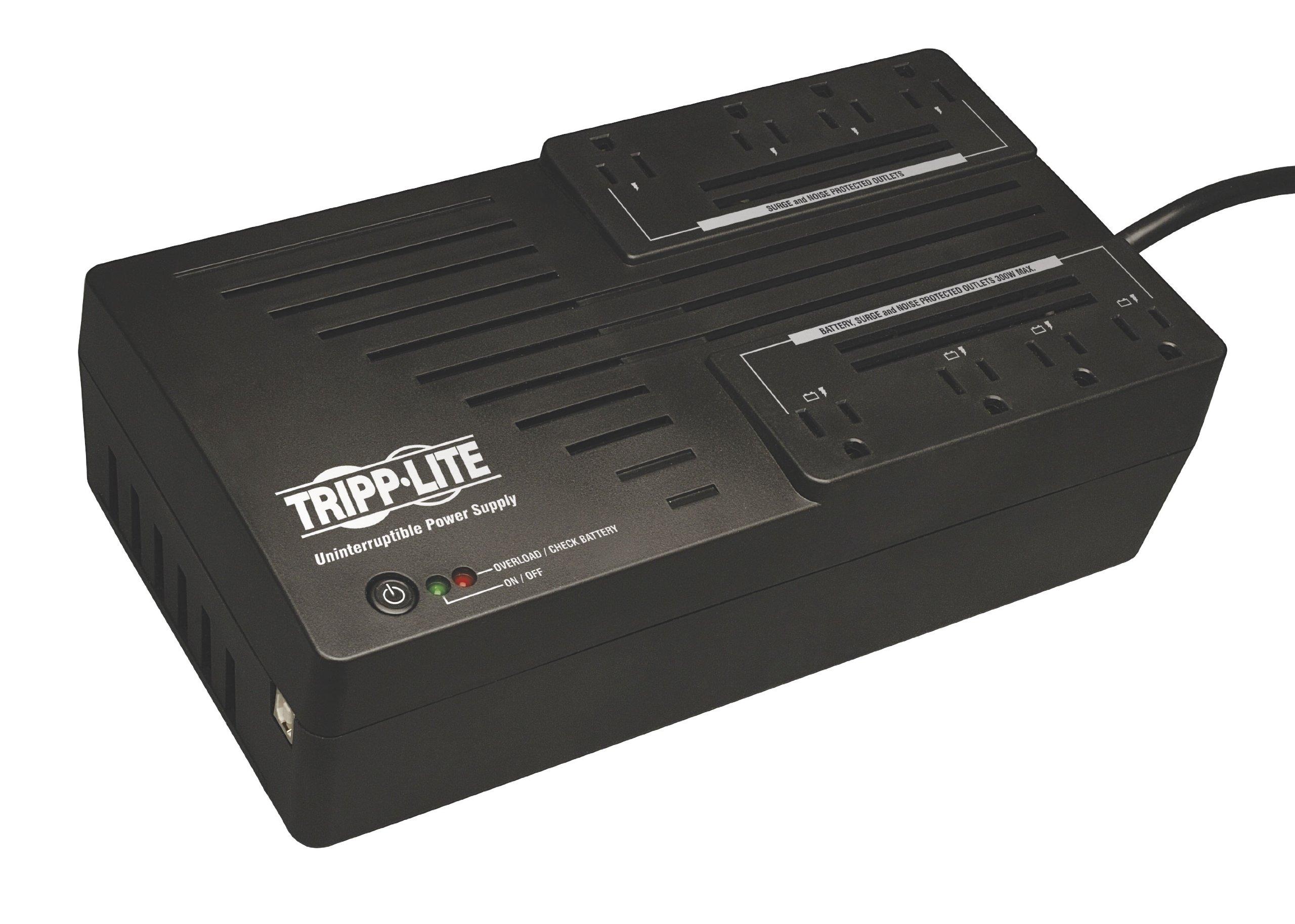 Tripp Lite 700VA UPS Battery Backup, 350W AVR Line Interactive, USB, Ultra-Compact (AVR700U) by Tripp Lite