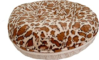 product image for BESSIE AND BARNIE Signature Giraffe/Natural Beauty Extra Plush Faux Fur Bagel Pet/Dog Bed (Multiple Sizes)