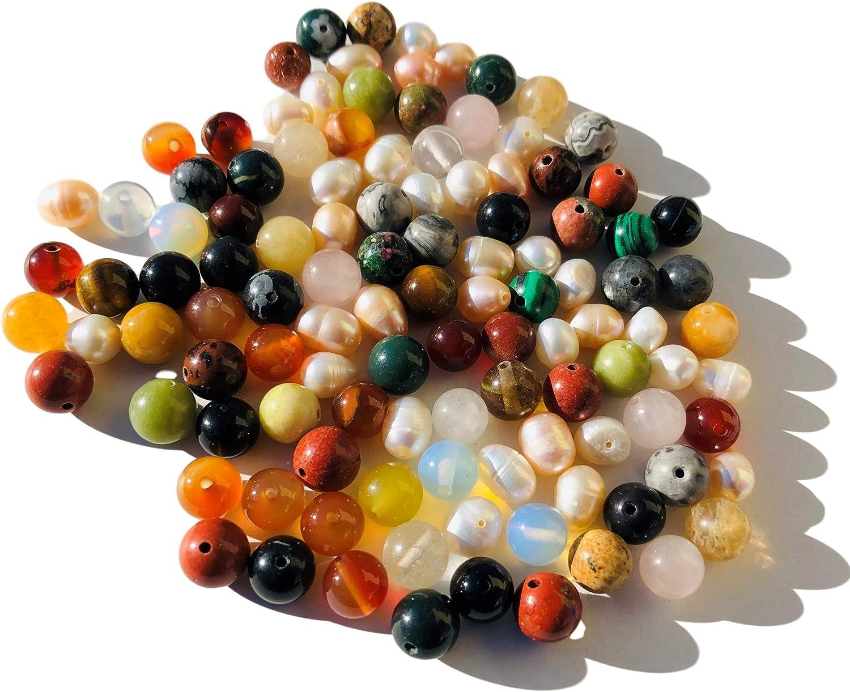 Rhinestone Paradise aprox. Juego de 100 perlas de piedras preciosas (8 mm), color turquesa