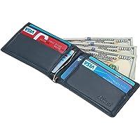 Kinzd Mens Slim Bifold Leather RFID Blocking Wallet