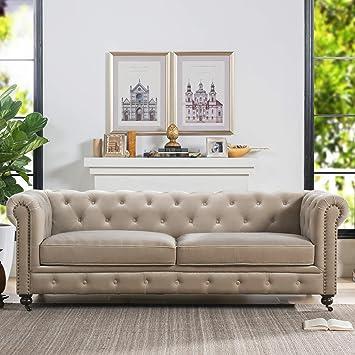 Amazon Com Jennifer Taylor Home Spencer Sofas Mink Furniture Decor