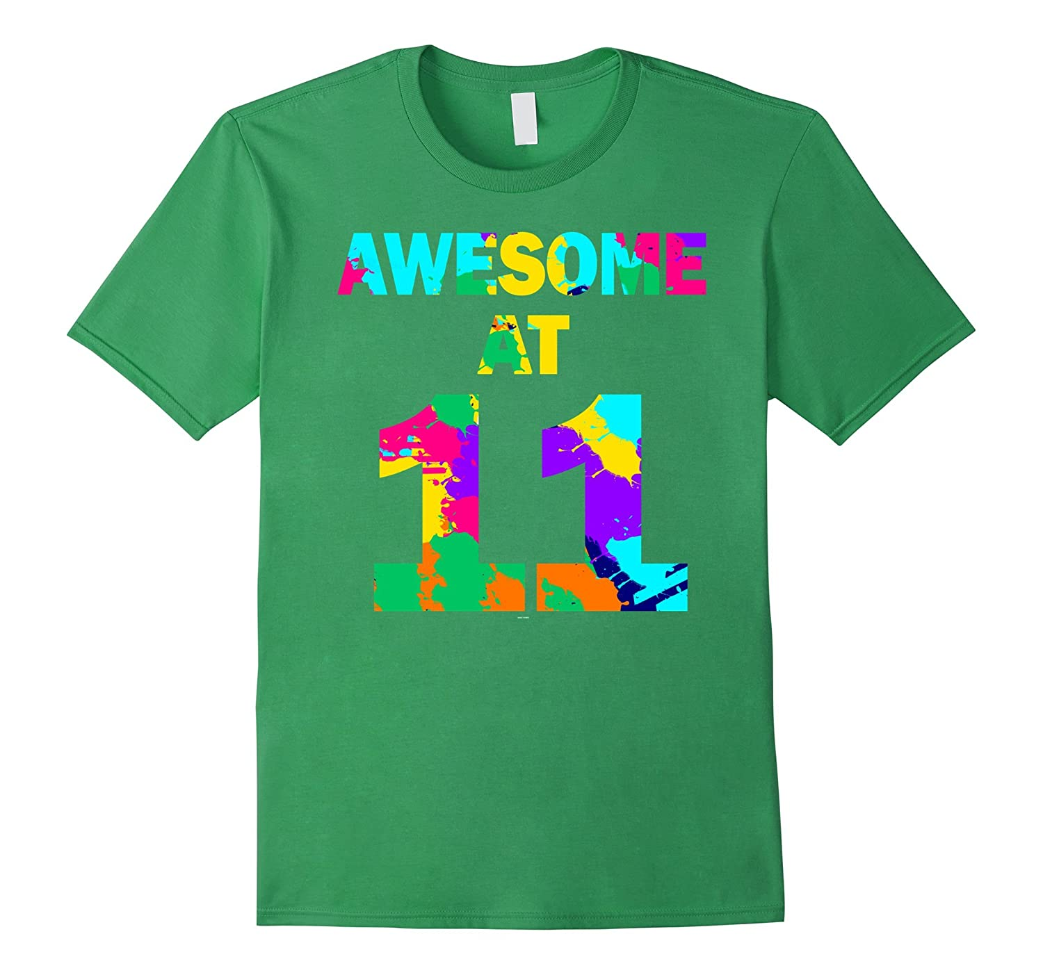 11th birthday gift shirt for 11 year old girl boy awesome at