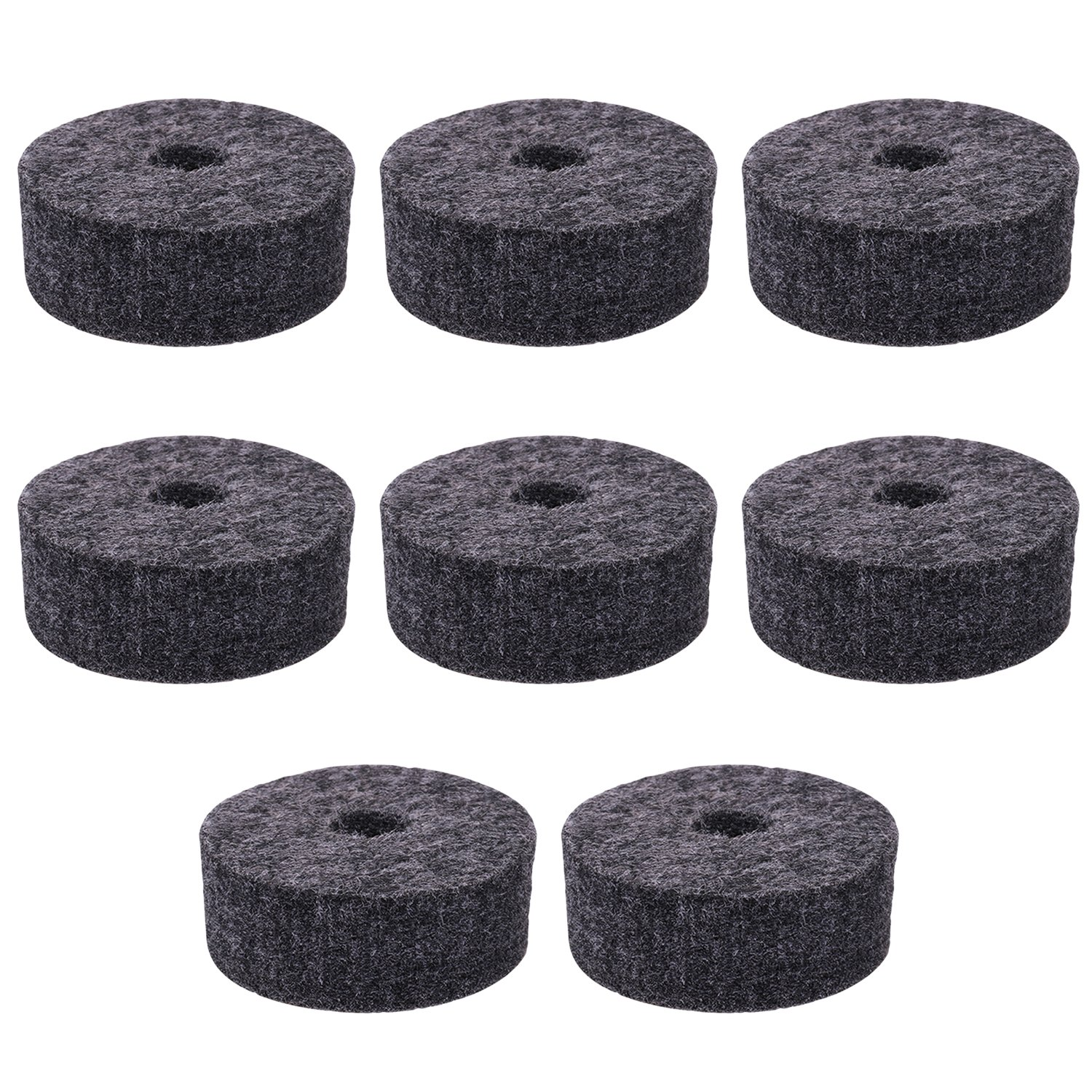 Round Soft Grey Cymbal Stand Felt Washer Replacement for Drum Set of 8 Sunflower music