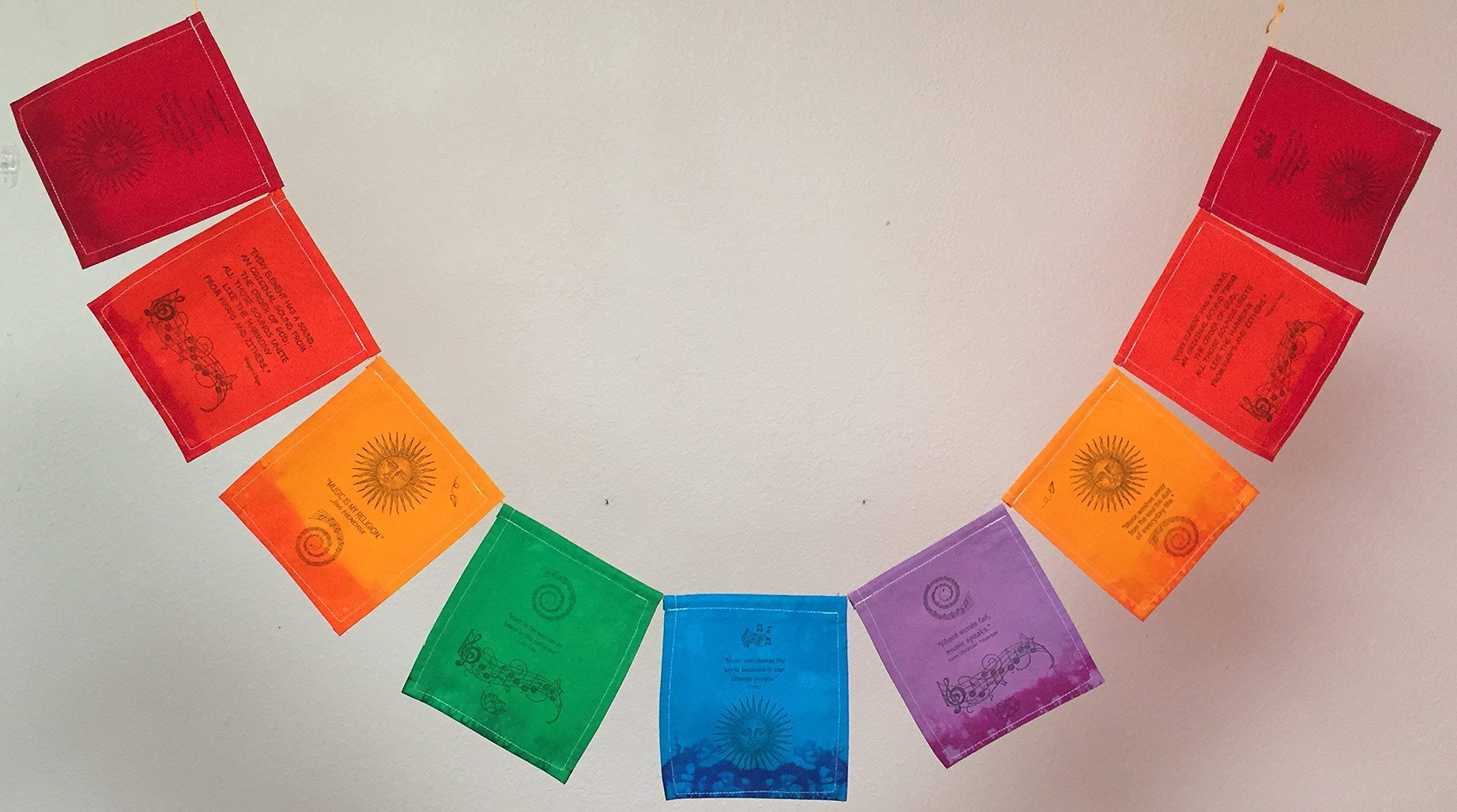 Music Prayer Flag, for those who love and are inspired by music. All proceeds to families in Mexico.