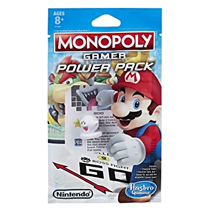 Monopoly Gamer Power Pack eComm Bundle #1 including Tanooki Mario, Luigi, and Boo