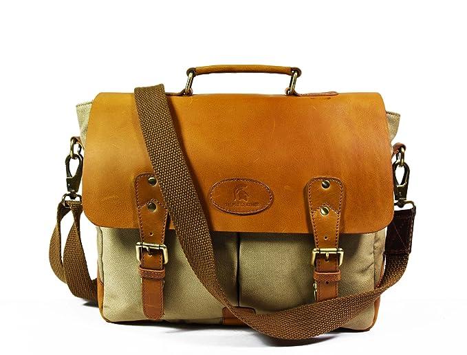 de052145285 Clubb Original Pure Leather Sleek Unisex Laptop Messenger Portfolio ...