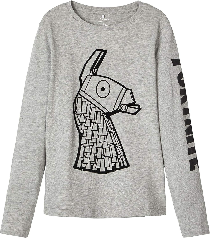 Fortnite Name it Jungen Langarmshirt Gr.122-164 Shirt grau Pullover neu!