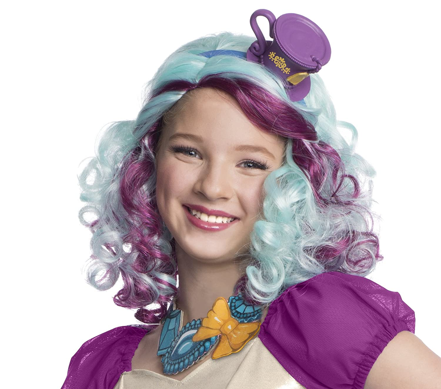 Madeline Hatter Wig with Headpiece Rubies - Domestic 52884_NS