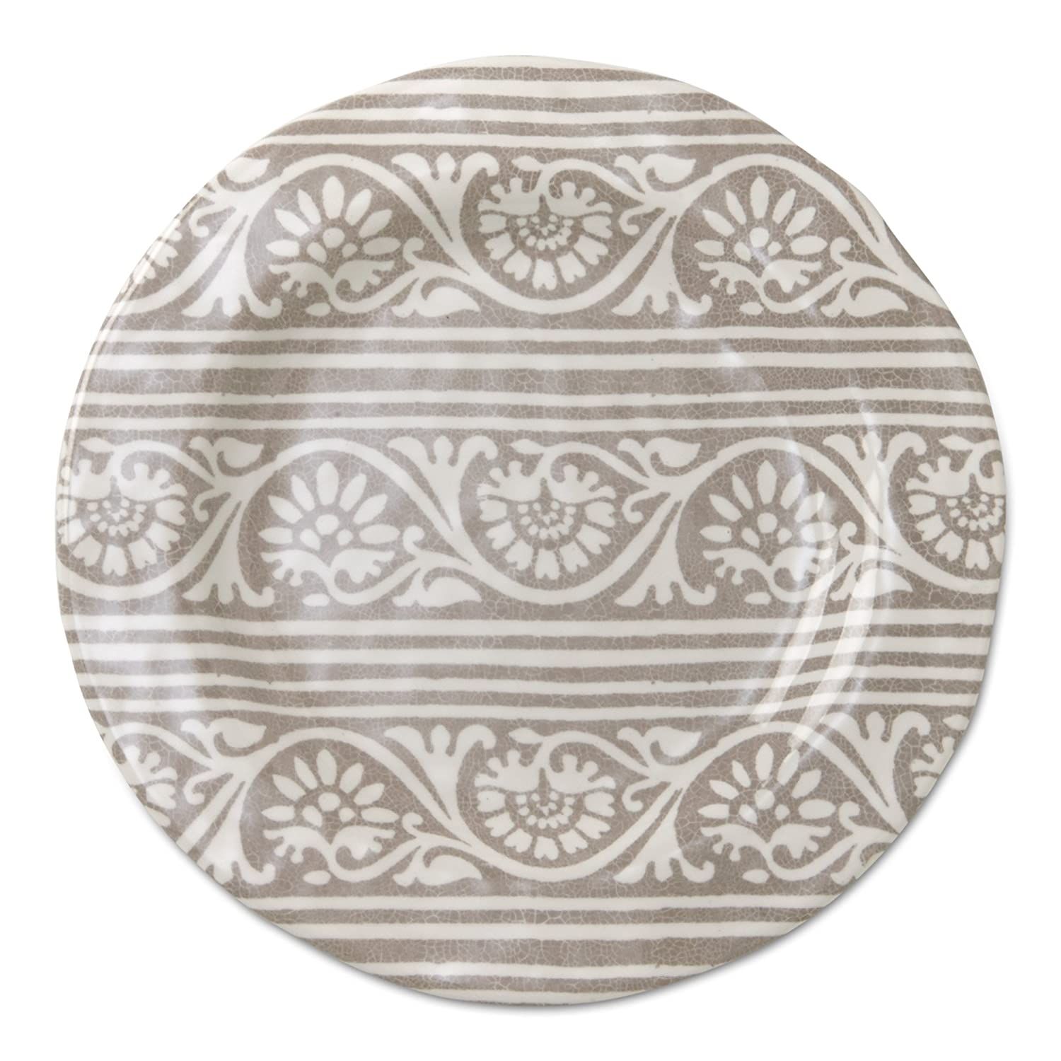 tag - Artisan Melamine Salad Plate, Durable, BPA-Free and Great for Outdoor or Casual Meals, Blue (Set of 4) 206035