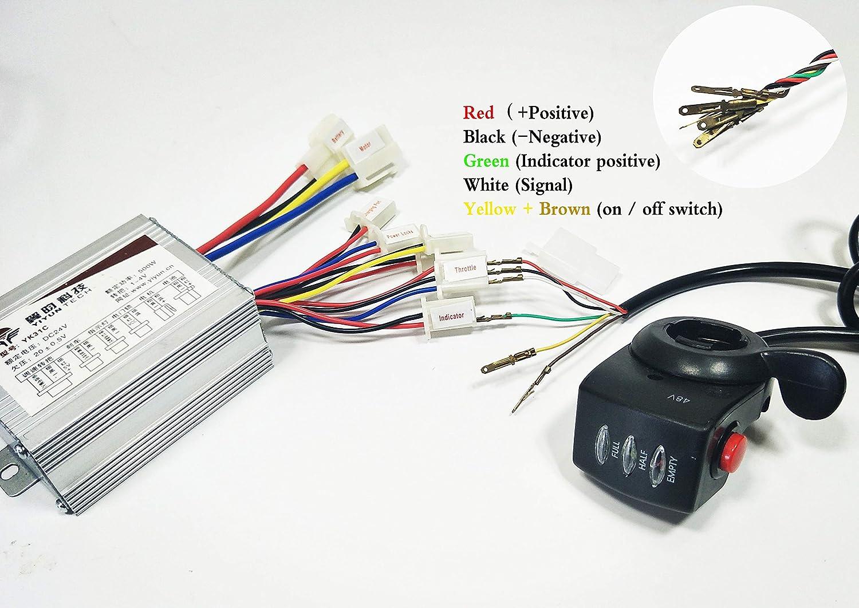 WUXING - Controlador de Motor eléctrico para Bicicleta de 36 ...