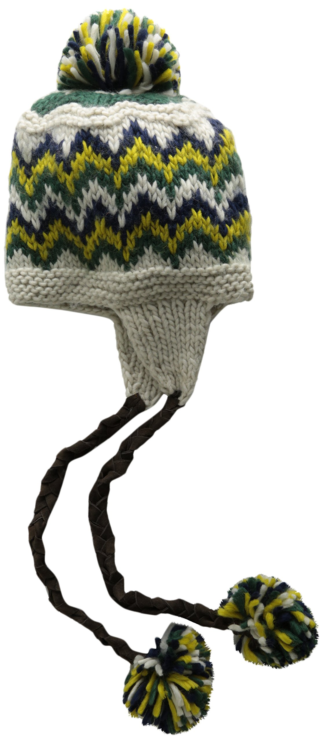 San Diego Hat Company Women's Intarsia Trapper, Ivory, One Size