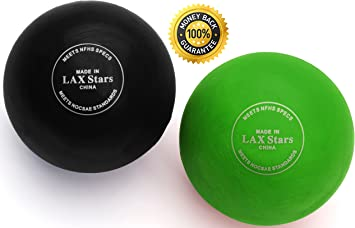 LAX Stars Lacrosse Balls Massage Ball Therapy - Myofascial Tension Release, Fascia Release, Massage Balls for Foot, Massage Balls for Back, Trigger ...