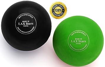bde360b6c62d9 LAX Stars Lacrosse Balls Massage Ball Therapy - Myofascial Tension Release,  Fascia Release, Massage Balls for Foot, Massage Balls for Back, Trigger ...