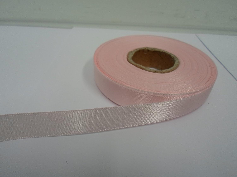 1 rotolo di nastro di raso 15 millimetri x 25 metri la luce per bambini rosa a doppia faccia 15mm 15 mm Beautiful Ribbon