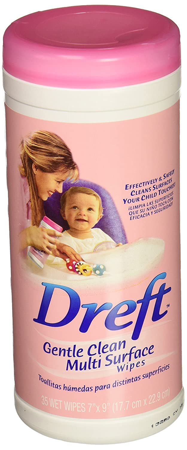 Amazon.com: Dreft Gentle Clean Multi-Surface Wipes (35 wipes)- Pack of 4: Baby