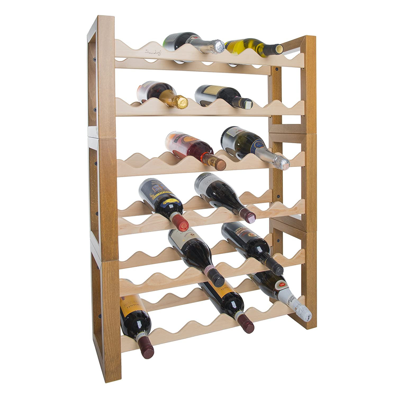 Botellero botellero Porta Vino de madera para nevera 36 plazas ...