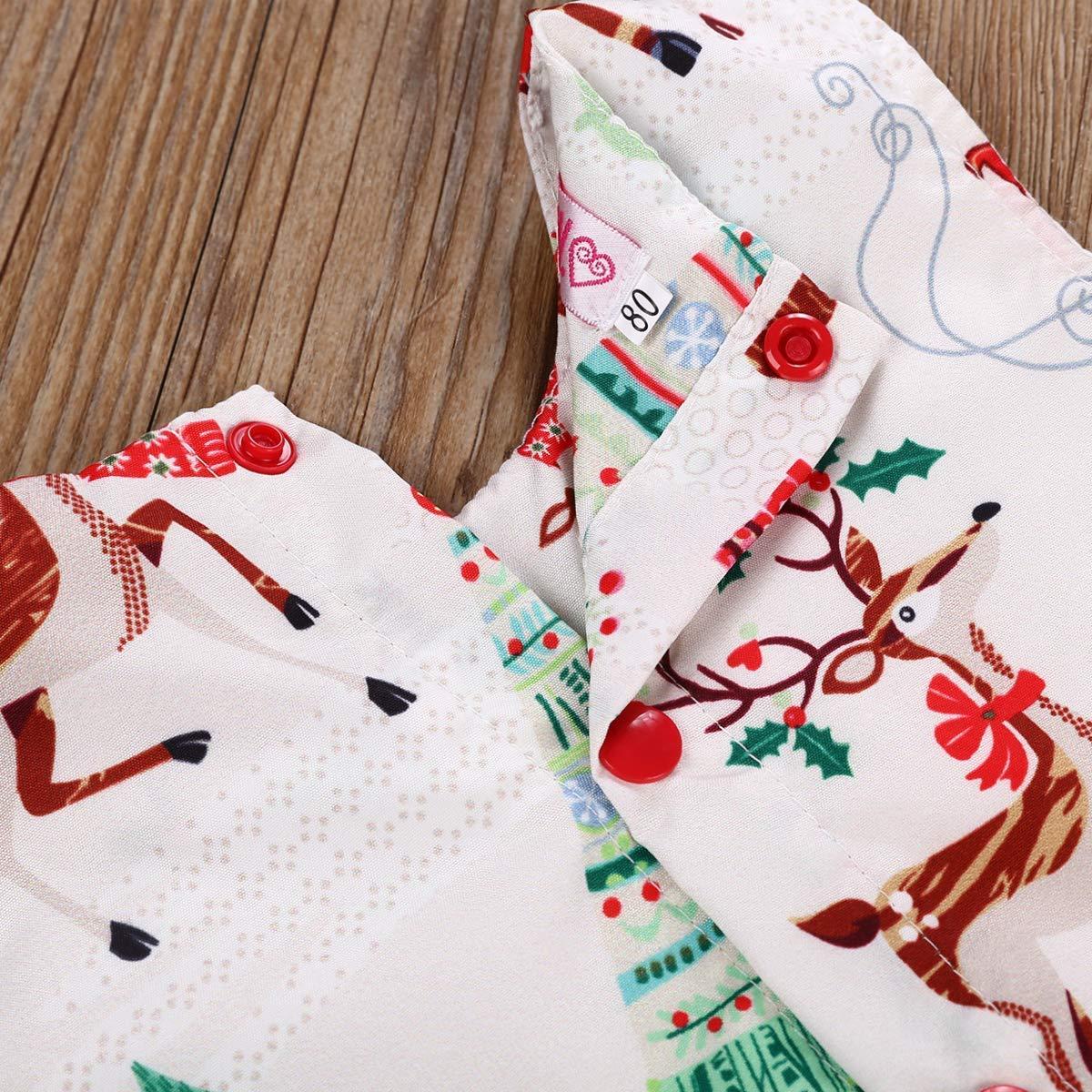Toddler Baby Girls Christmas Day Dress Kid Baby Girls Ruffle Long Sleeve Tops Baby Girl Skirt Outfit Set