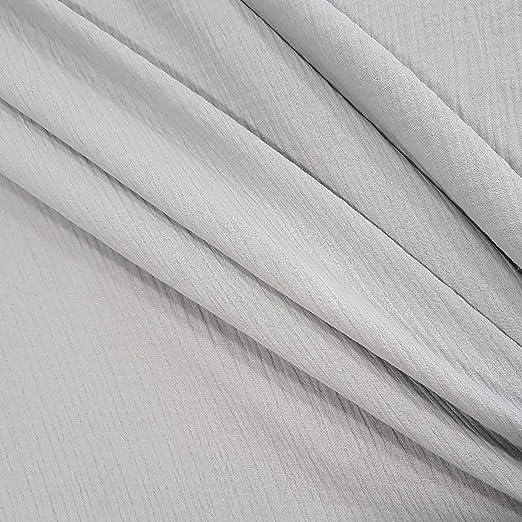 Meterware Tela de Muselina de algodón, Color Gris Claro: Amazon.es ...