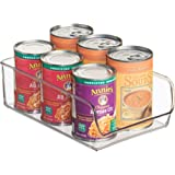 InterDesign Linus Refrigerator or Freezer Food Storage Container – Organizer Drawer for Kitchen or Pantry - Large, Clear