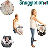 Snugglebundl - Transfer Baby from Car Seat, Swing or Stroller without Waking your Baby! | The Multi-Use & Multi- Award Winning Portable Baby Lift and Swaddle! (Funky Spots) by Snugglebundl