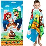 "Franco Kids Super Soft Cotton Beach Towel, 28"" x 58"", Super Mario"