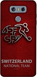 ColorKing Football Switzerland 09 Red shell case cover for LG G6