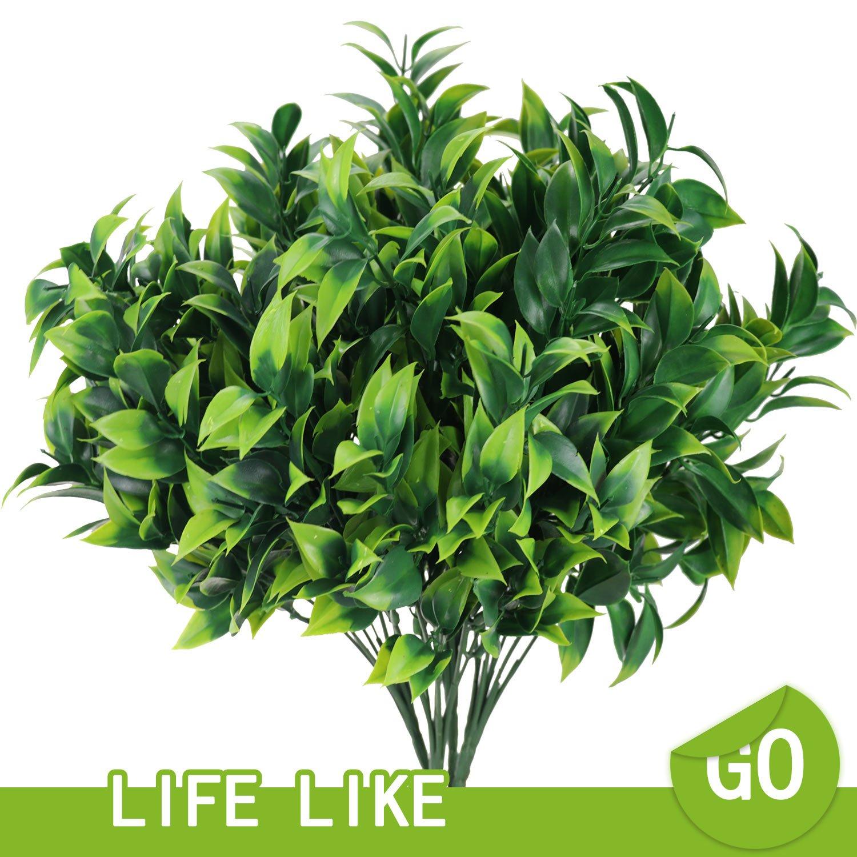 人工Boxwood植物アウトドアBushes Fake低木プラスチックGreenery Leave ArrangementプランターHouse Porchインドアガーデン装飾4pcs B07B7Q3DKQ