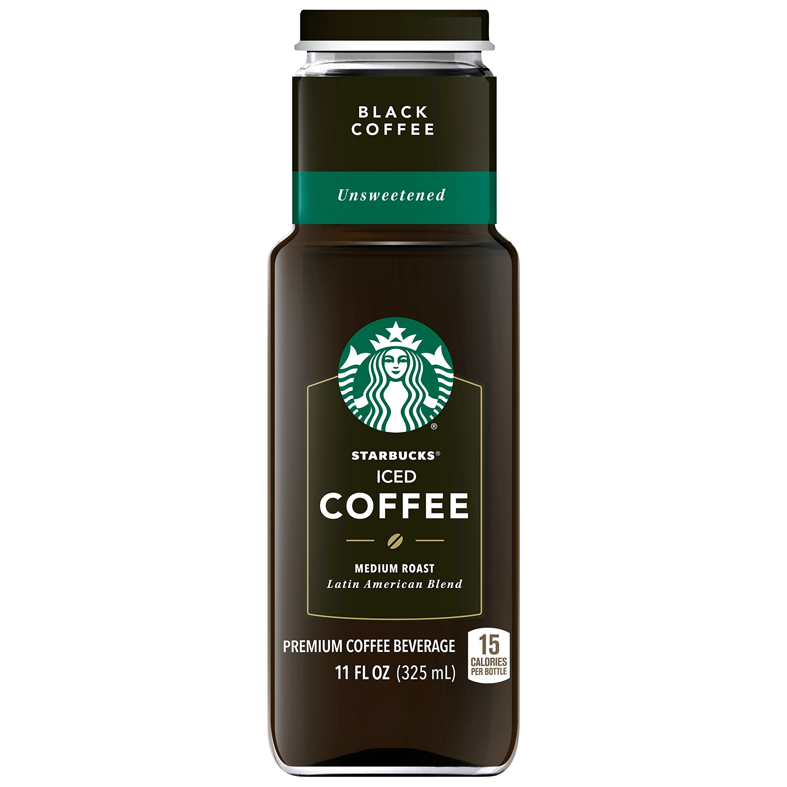 Starbucks Iced Coffee, Black Unsweetened, 11oz Bottle by Starbucks (Image #1)