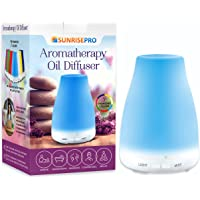 Oil Diffuser (120ml) Perfect For Dispenser Of Essential Oils Bottle Set | Good Substitute For Humidier Heater To Calm Your Mind, Body & Spirit, Help To Sleep Well Without Medication, Great Companion To Combat Nasty Colds, Flu, Dry Nostrils Or Stuffy Nose | Transform Your Home, Office Or Apartment Smelling Like Amazing & Relaxing by SunrisePro