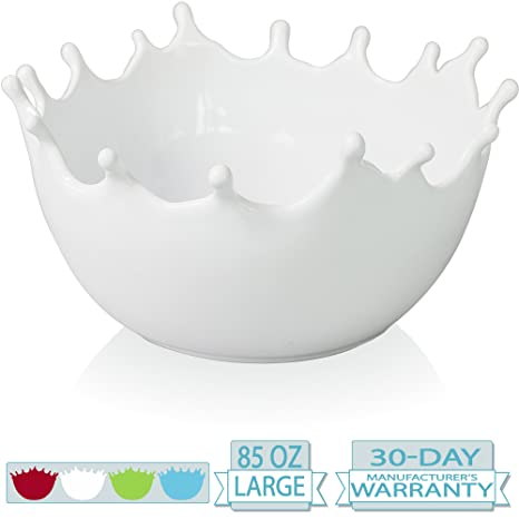 Amazon.com | Premium Large Ceramic Fruit Bowl - Candy Dish - Salad ...