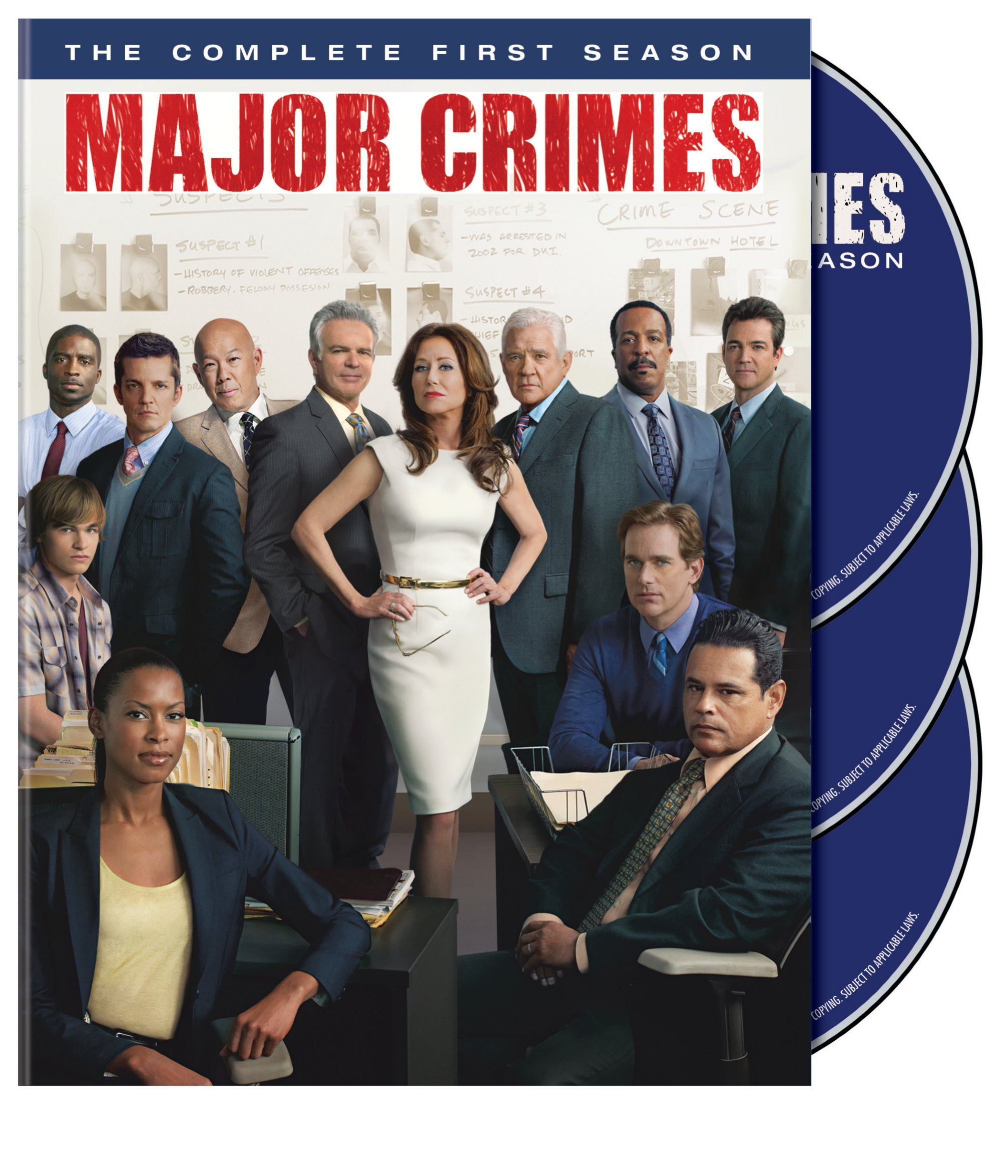 DVD : Major Crimes: The Complete First Season (, 3 Pack, 3 Disc)