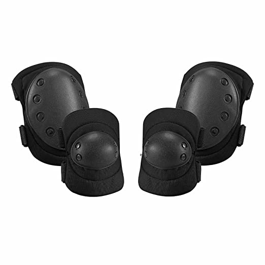 DD Aoutacc Tactical Combat Knee /& Elbow Protective Pads Set for Outdoor CS Paintball Game Cycling Safety Skateboarding Gear Skates Knee Protection Guard Pads