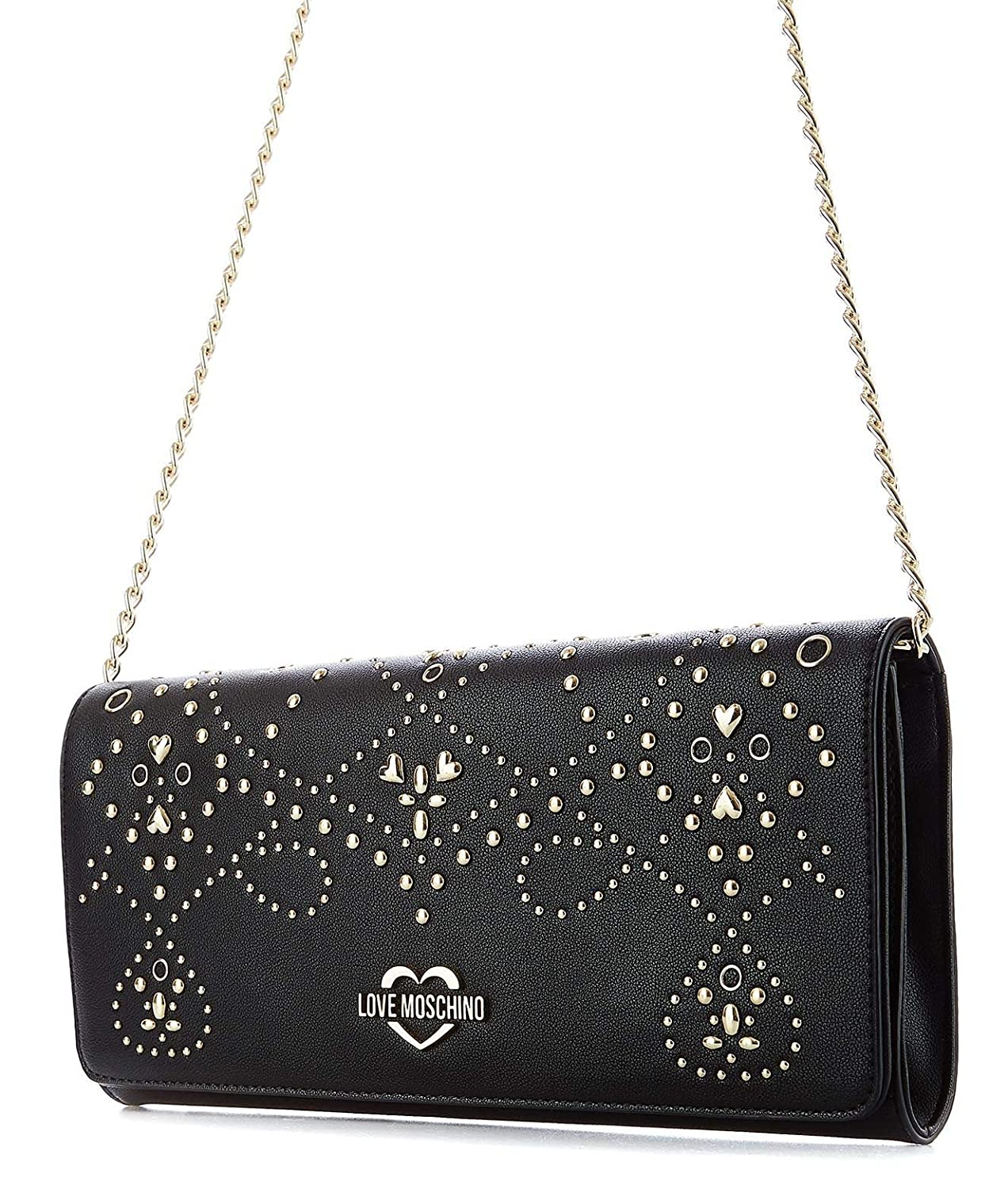 Love Moschino Womens JC4126PP17LR000A Black Faux Leather Shoulder Bag