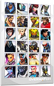 "Overwatch Poster For Wall Room Decoration -- Overwatch Wall Art Featuring Genji, Mercy, Widowmaker, Tracer, and More (8.25"" x 11.75"", Overwatch Merchandise)"